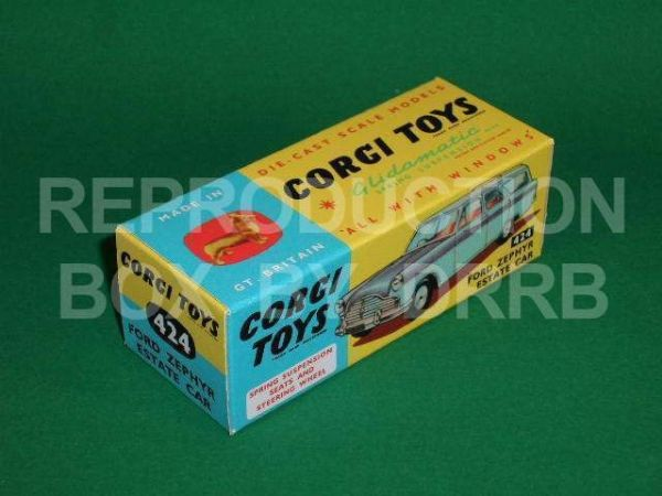 Corgi #424 Ford Zephyr Estate Car - Reproduction Box